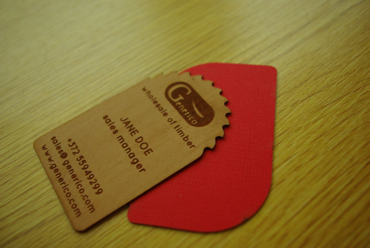 Custom business cards from natural wood | KOOR wood