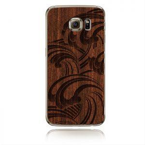 Samsung S6 Padauk maroon Stormy sea